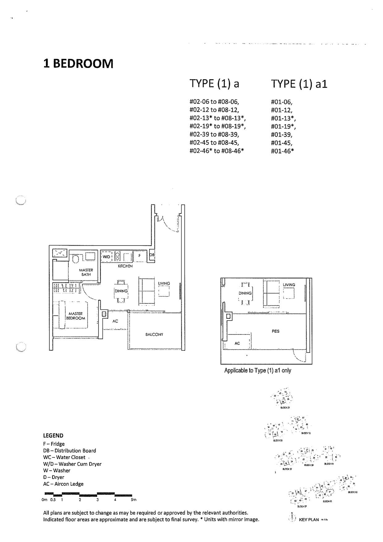 The Inflora Floor Plan :: 1 Bedroom