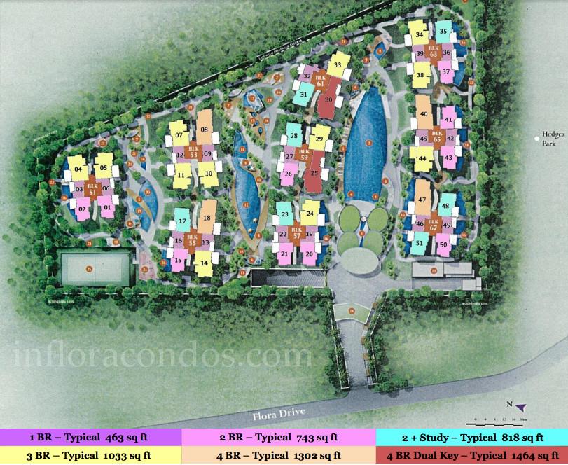 The Inflora Condo Site Plan
