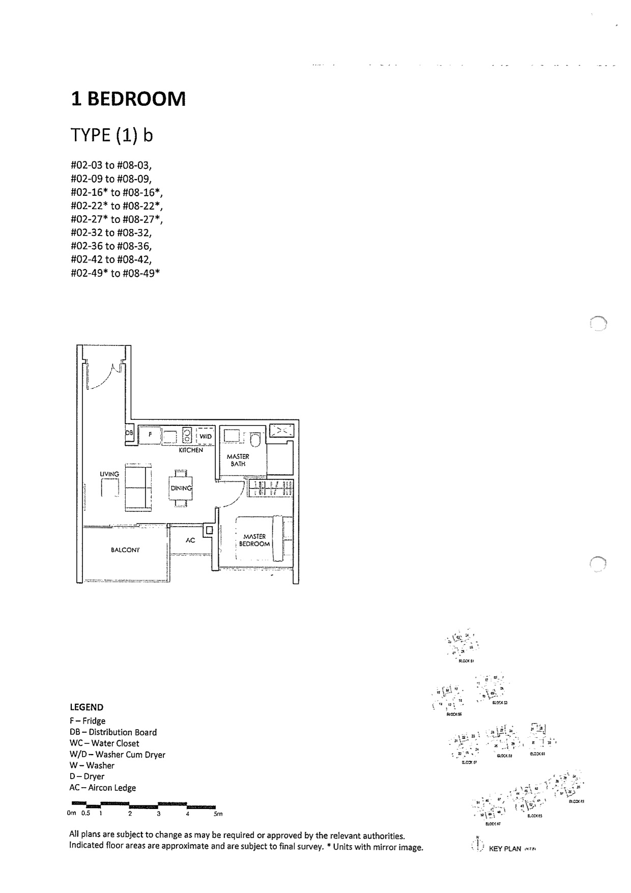 The Inflora Condo Layout Plans 1 Bedroom Type (1)b
