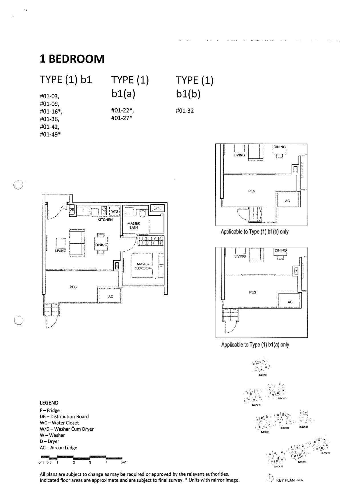 The Inflora Floor Plans 1 Bedroom