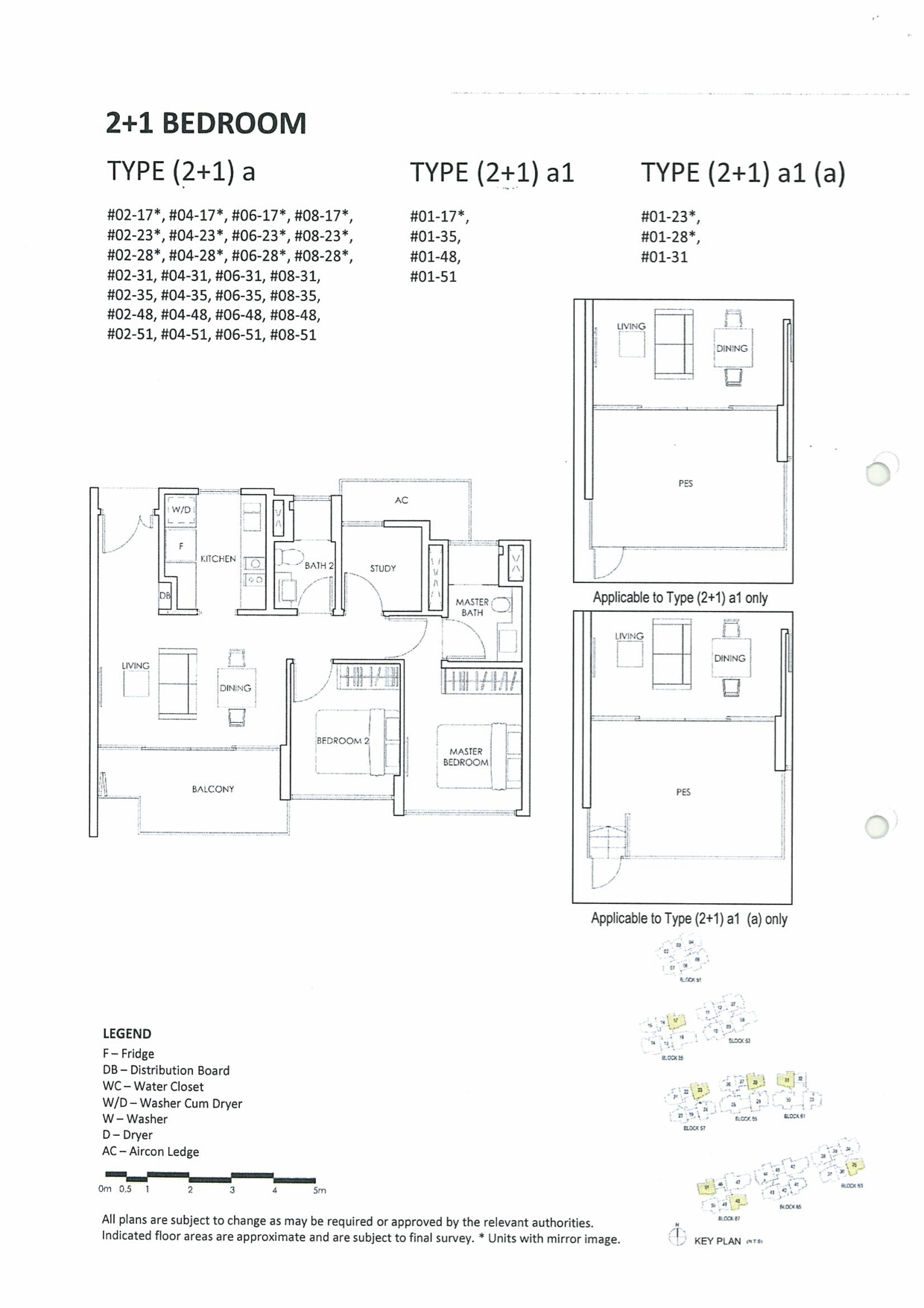 Inflora Condo Floor Plan :: 2 Bedroom + Study