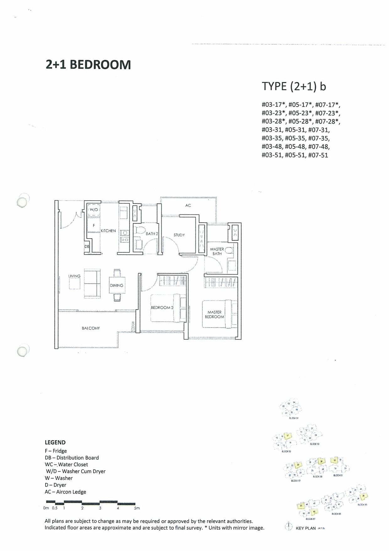 Inflora Condo @ Flora Drive Floor Plan :: 2 Bedroom + Study