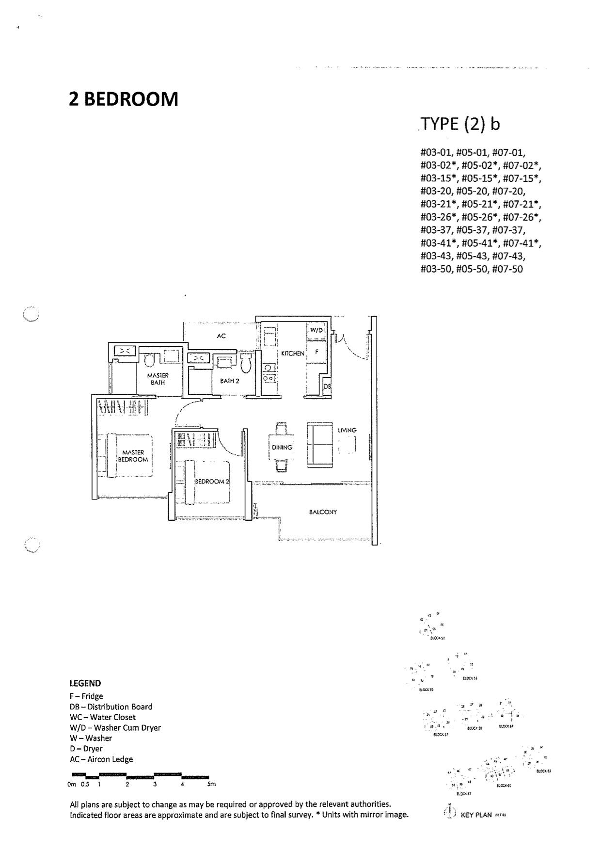 Inflora Floor Layout Plan 2 Bedroom