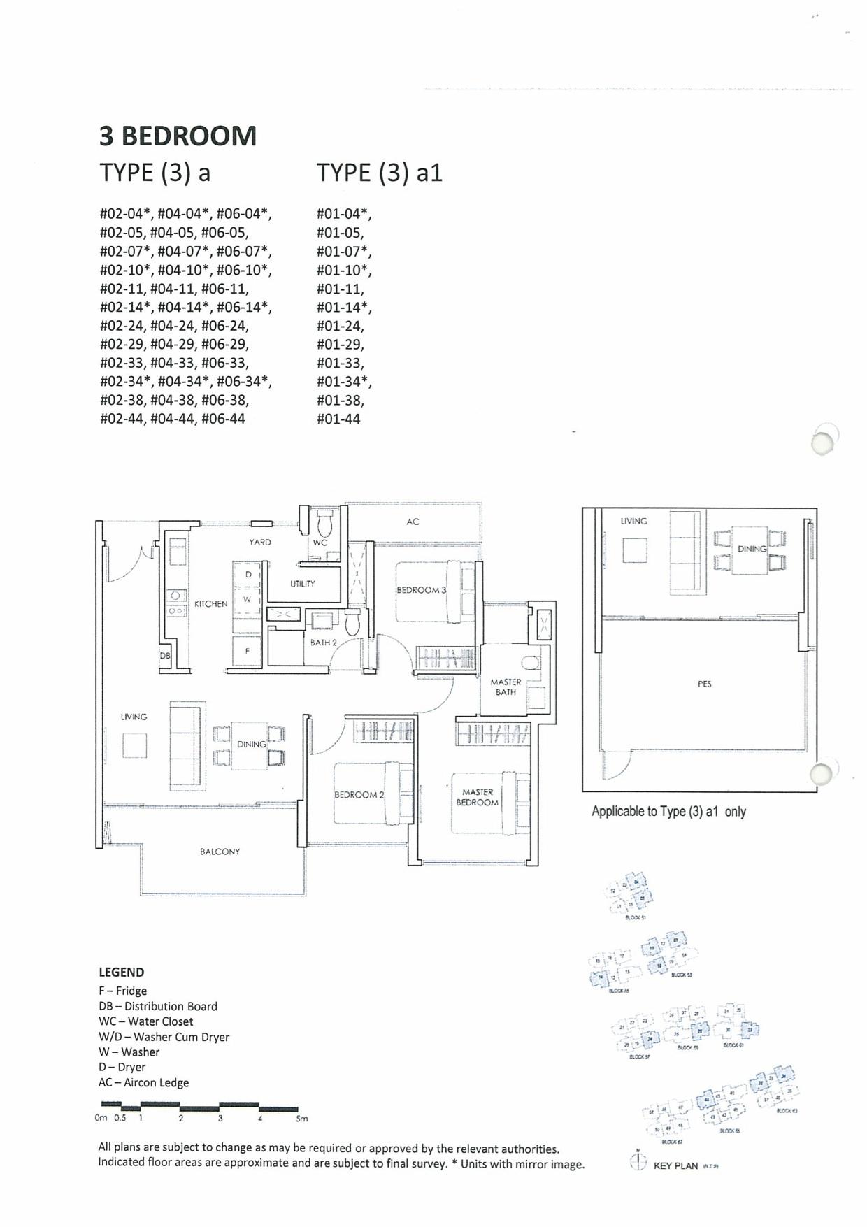 The Inflora Floor Plan :: 3 Bedroom