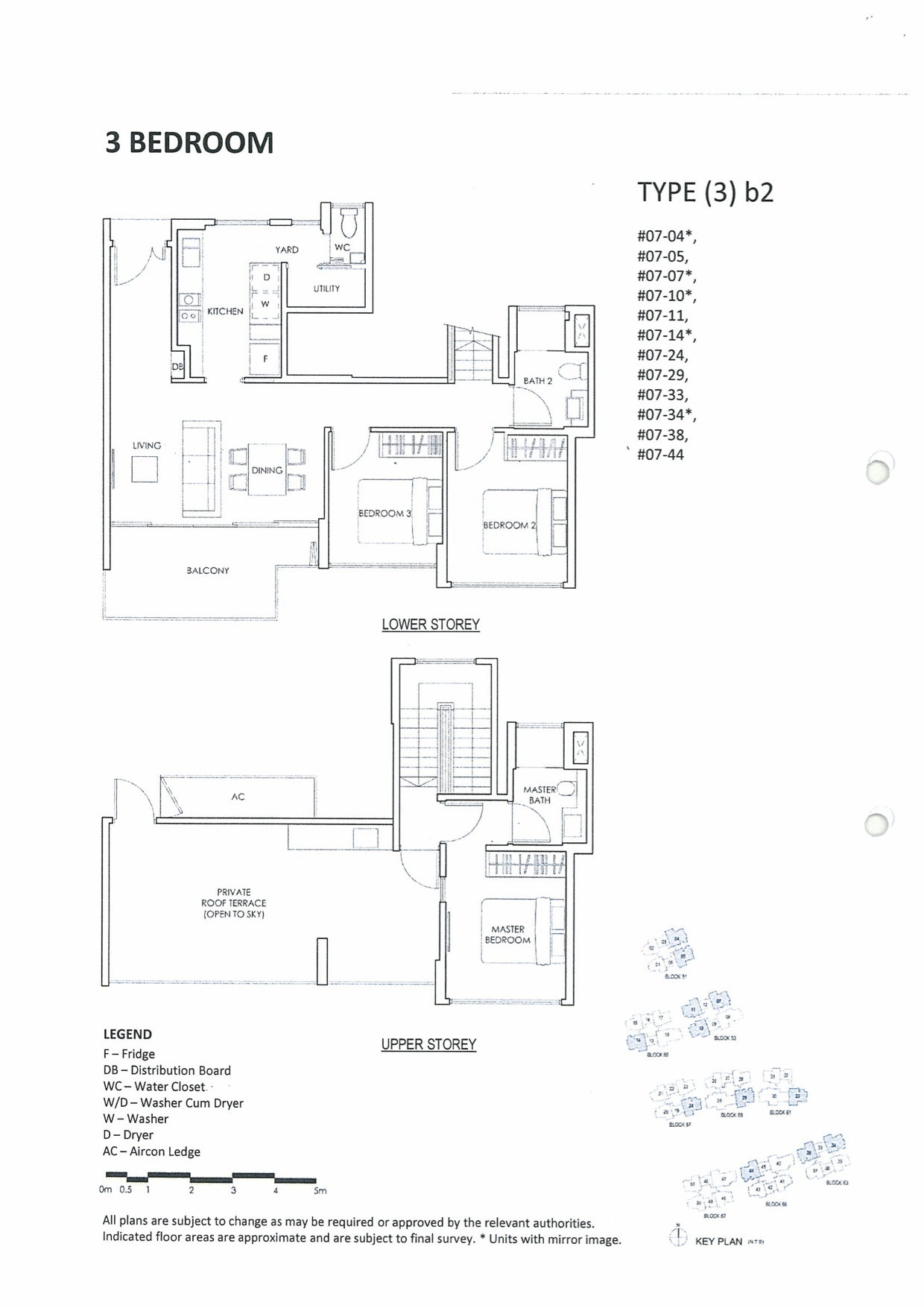 Inflora @ Changi Condo Floor Plan :: 3 Bedrooms