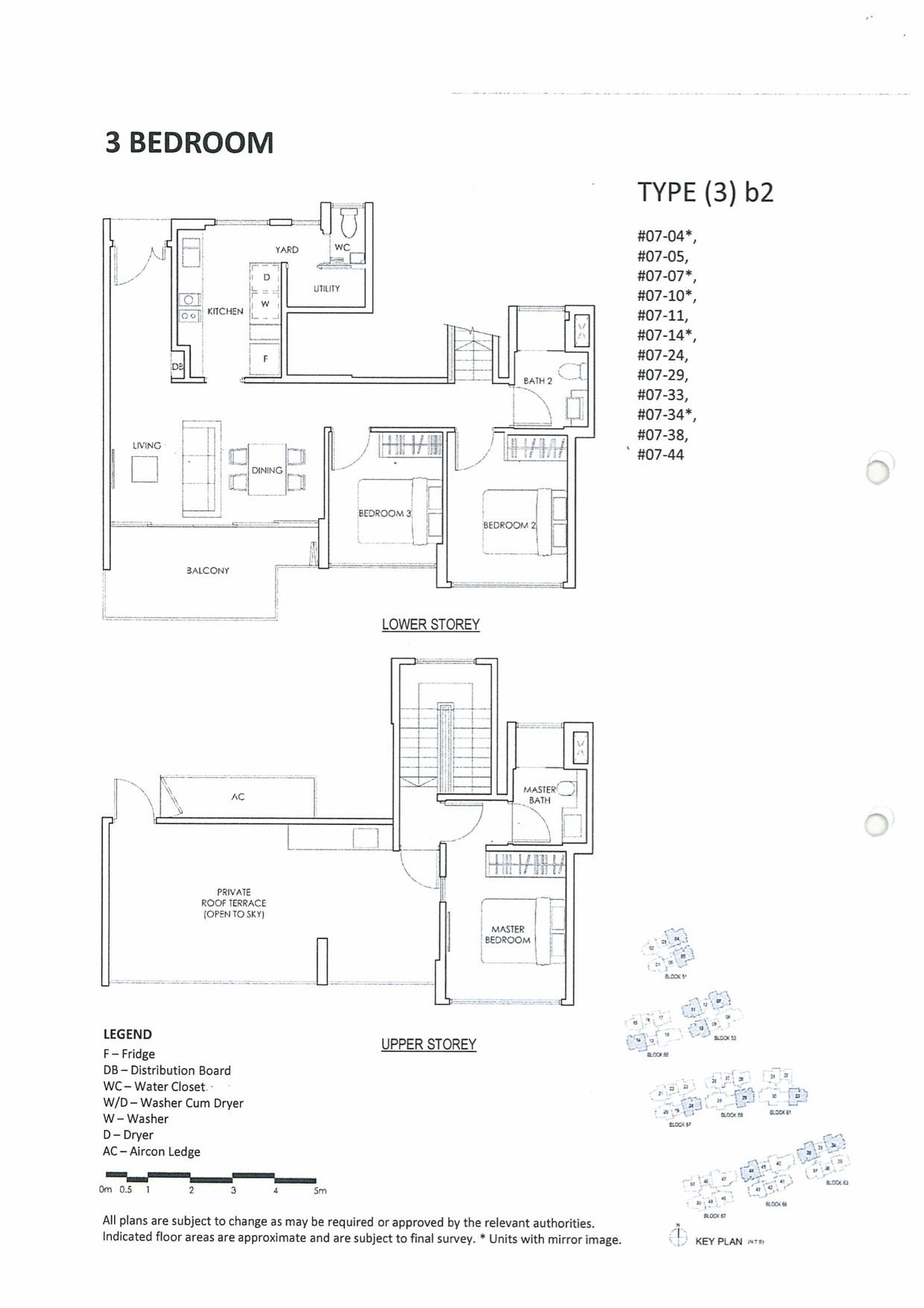 Inflora @ Changi Condo Floor Plan :: 3 Bedrooms
