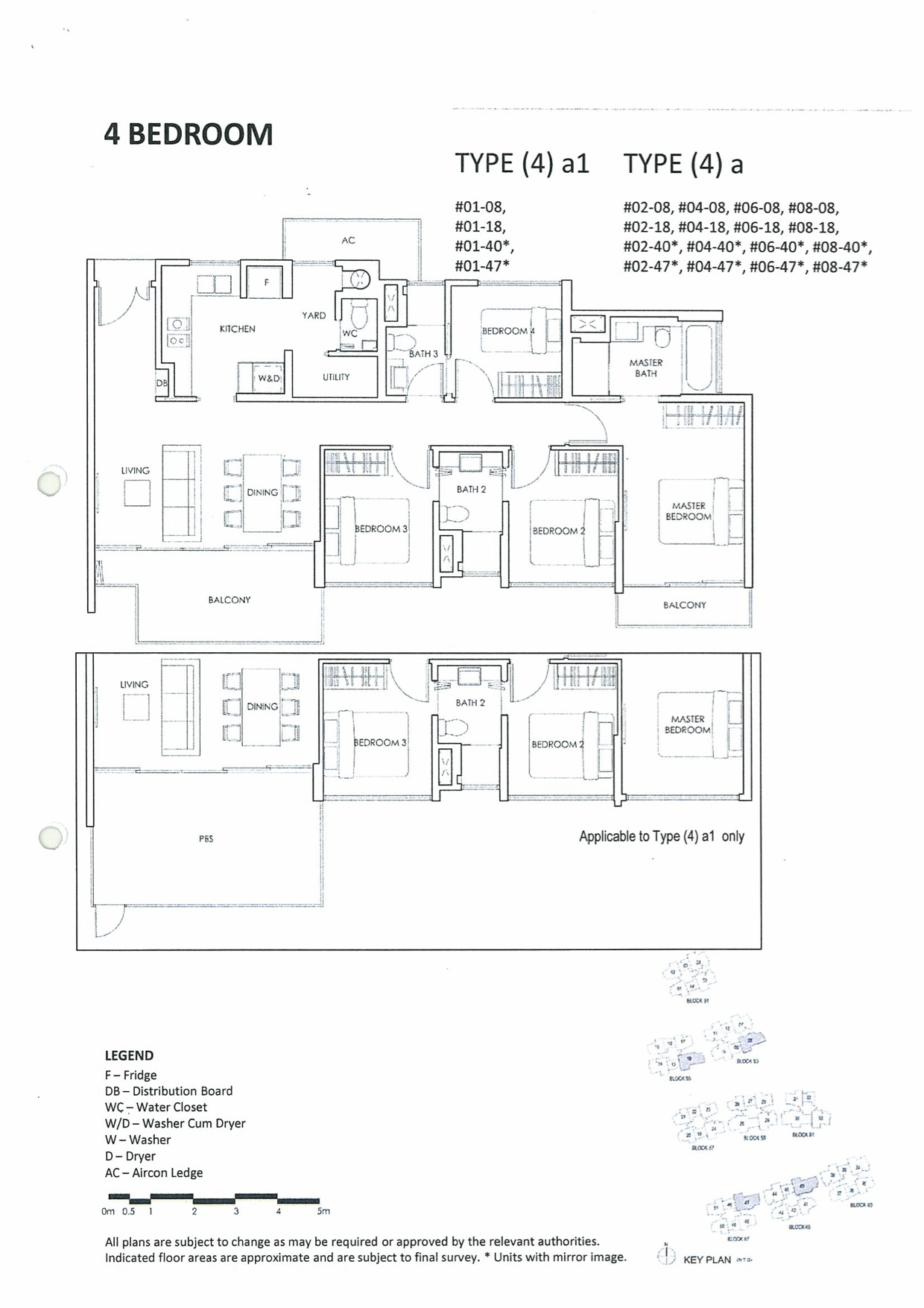 The Inflora @ Flora Drive Condo Floor Layout Plan :: 4 Bedrooms