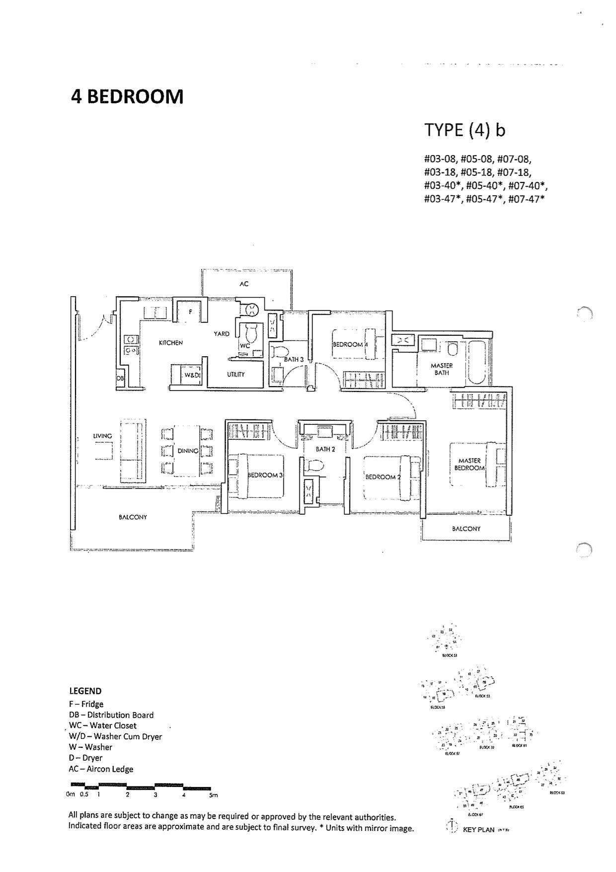 Inflora @ Pasir Ris :: Condo Floor Plan Layout :: 4 Bedrooms