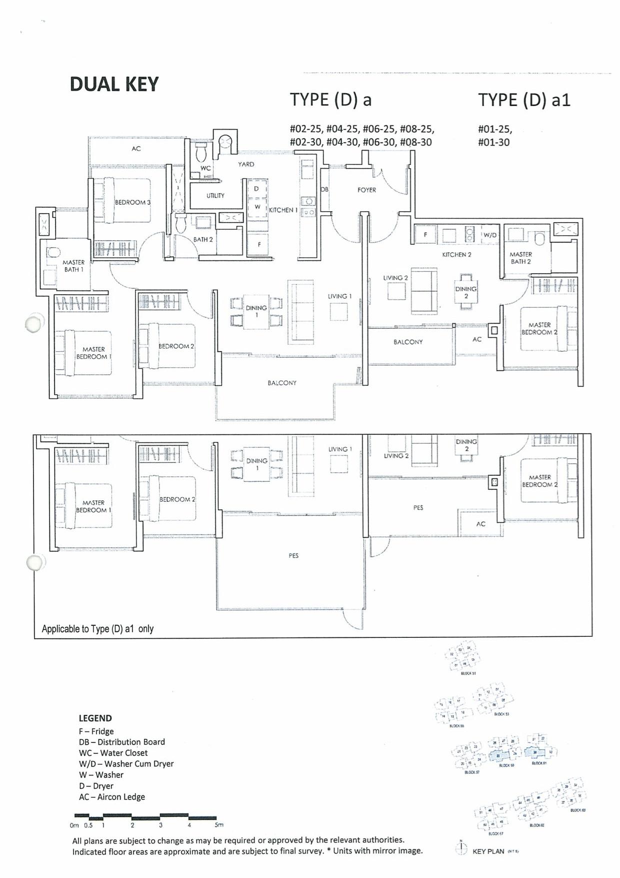The Inflora Floor Plan :: 4 Bedroom Dual Key