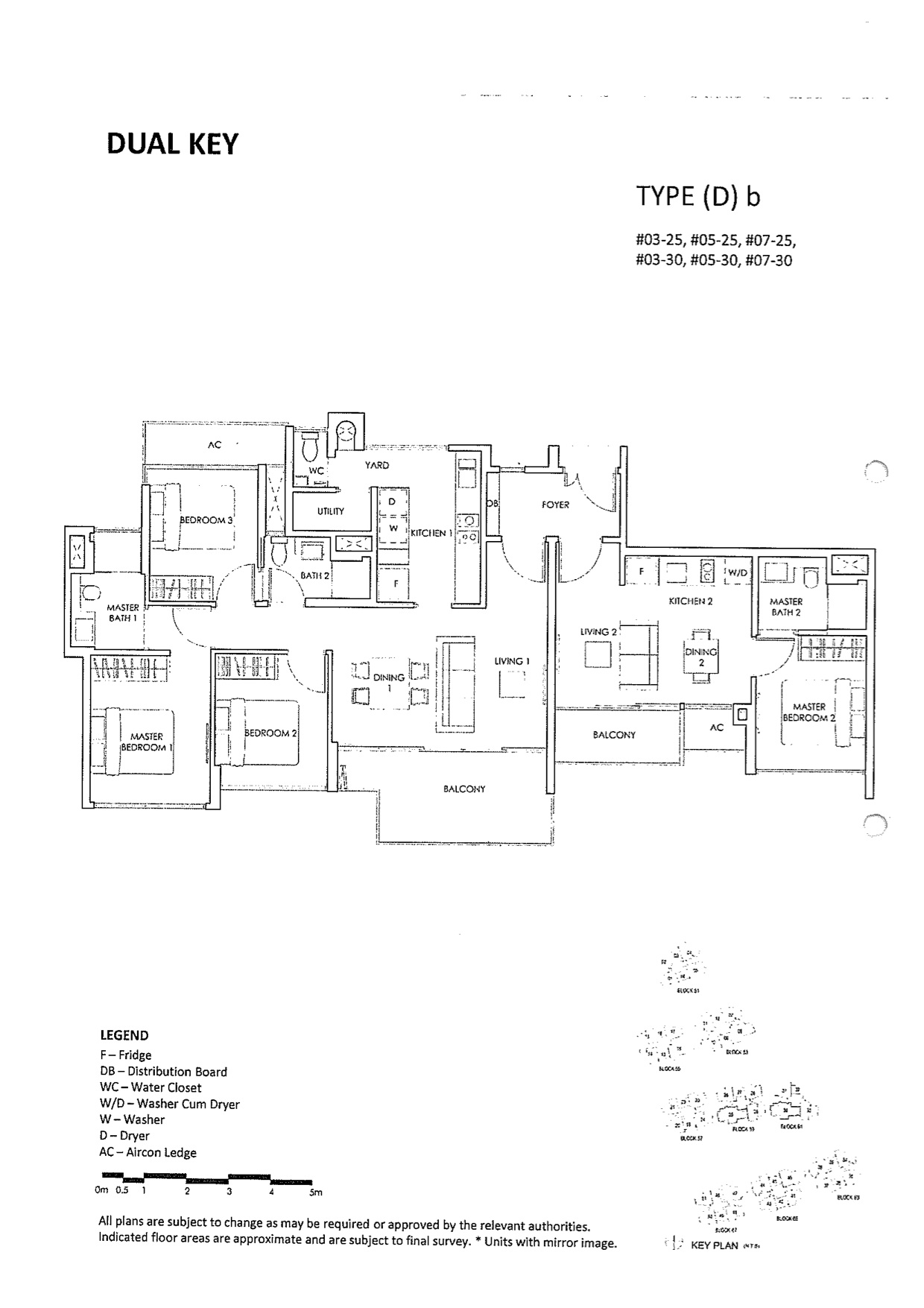 The Inflora Condo Floor Plans :: 4 Bedrooms Dual Key